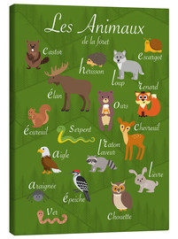 Canvas-taulu  Forest animals - French - Kidz Collection