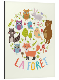 Alumiinitaulu  The Forest (French) - Kidz Collection