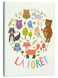 Canvas-taulu  The Forest (French) - Kidz Collection