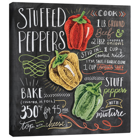 Canvas-taulu  Stuffed peppers recipe - Lily & Val