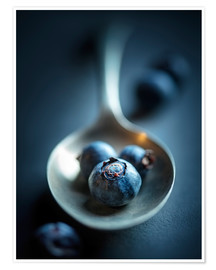 Juliste Blueberry Macro Still Life