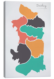 Canvas-taulu  Duisburg city map modern abstract with round shapes - Ingo Menhard