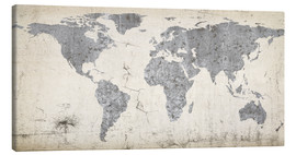 Canvas-taulu  Vintage world map
