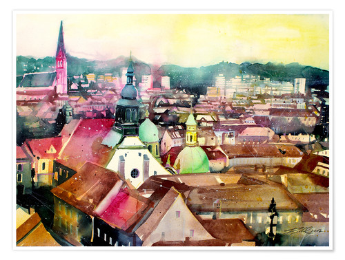 Juliste Graz, view to the cathedral