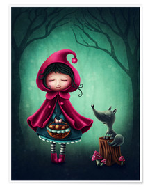 Juliste Little red riding hood and the wolf