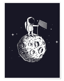 Juliste The first man on the moon