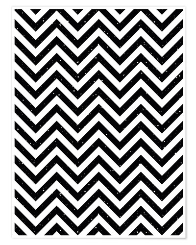 Juliste Herringbone pattern black and white