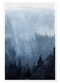 Juliste Mist over the forest