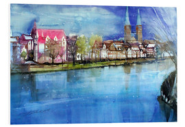 PVC-taulu  Lübeck, painter angle with cathedral - Johann Pickl