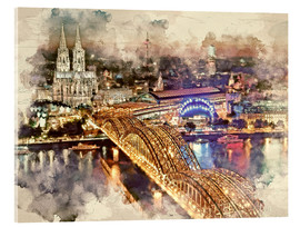 Akryylilasitaulu  Cologne Skyline Cologne Cathedral - Peter Roder