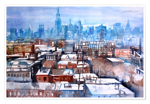 Juliste New York, Brooklyn Wintertime