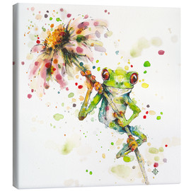 Canvas-taulu  Hello there, bright eyes (Green tree frog) - Sillier Than Sally