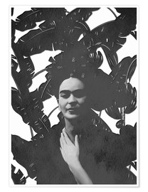 Juliste  Frida black and white - Mandy Reinmuth