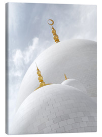 Canvas-taulu  white cupolas of sheikh zayed mosque