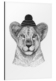 Alumiinitaulu  Lion child with cap - Valeriya Korenkova