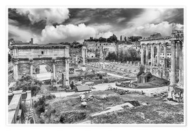 Juliste ruins of the Roman Forum in Rome