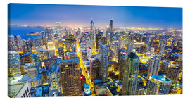 Canvas-taulu  Night view of Chicago