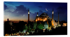 Akryylilasitaulu  View of Hagia Sophia after sunset