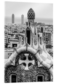 Akryylilasitaulu  Impressive architecture and mosaic art at Park Guell