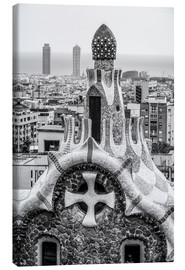 Canvas-taulu  Impressive architecture and mosaic art at Park Guell