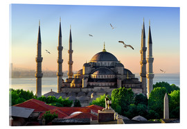 Akryylilasitaulu  The blue mosque in Istanbul