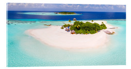 Akryylilasitaulu  Aerial view of island in the Maldives - Matteo Colombo