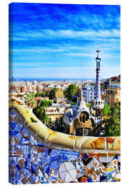Canvas-taulu  Park Guell in Barcelona
