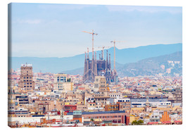 Canvas-taulu  Barcelona with the Cathedral of Gaudí
