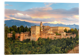 Akryylilasitaulu  Alhambra with Comares tower