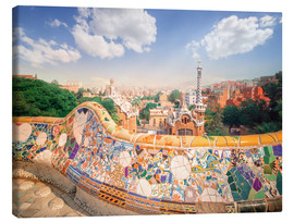 Canvas-taulu  The Park Guell in Barcelona