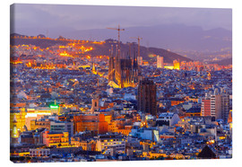 Canvas-taulu  Aerial view Barcelona