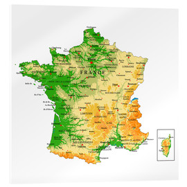 Akryylilasitaulu  Map of France