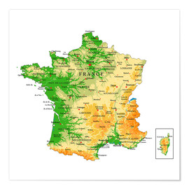 Juliste  Map of France