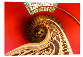 Akryylilasitaulu  Spiral staircase in Brittany
