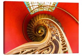 Canvas-taulu  Spiral staircase in Brittany