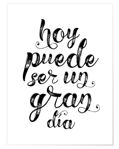 Juliste A great day - Spanish