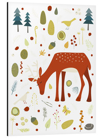 Alumiinitaulu  Pretty deer in the autumn forest - Nic Squirrell