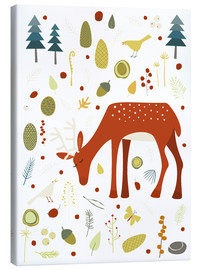 Canvas-taulu  Pretty deer in the autumn forest - Nic Squirrell