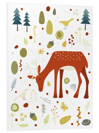 PVC-taulu  Pretty deer in the autumn forest - Nic Squirrell