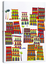 Canvas-taulu  Colorful houses in Havana, Cuba - Nic Squirrell
