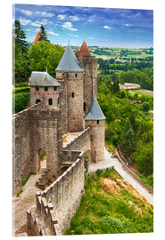 Akryylilasitaulu  Fortress Carcassonne in France, Languedoc