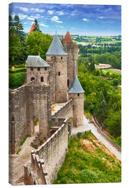 Canvas-taulu  Fortress Carcassonne in France, Languedoc