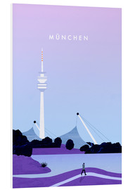 PVC-taulu  Munich illustration - Katinka Reinke