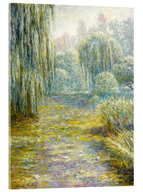 Akryylilasitaulu  The garden in Giverny - Blanche Hoschede-Monet