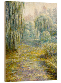 Puutaulu  The garden in Giverny - Blanche Hoschede-Monet