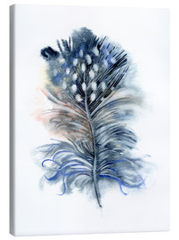Canvas-taulu  Feather blue - Verbrugge Watercolor