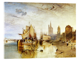 Akryylilasitaulu  Cologne, the arrival of a post boat - Joseph Mallord William Turner