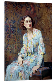 Akryylilasitaulu  Portrait of a Lady - Albert Henry Collings