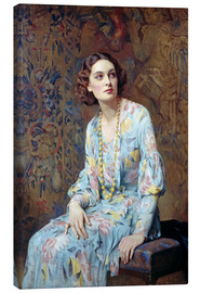 Canvas-taulu  Portrait of a Lady - Albert Henry Collings