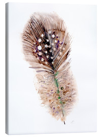 Canvas-taulu  Feather brown - Verbrugge Watercolor
